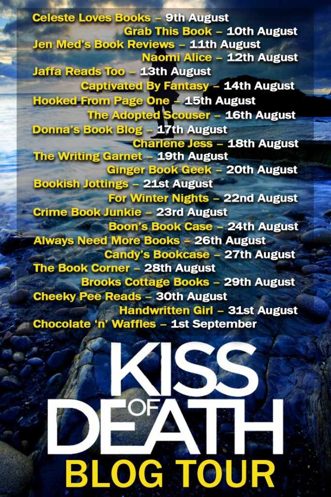 Kiss of Death Blog Tour Banner