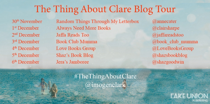 The Thing About Clare Blog Tour Banner