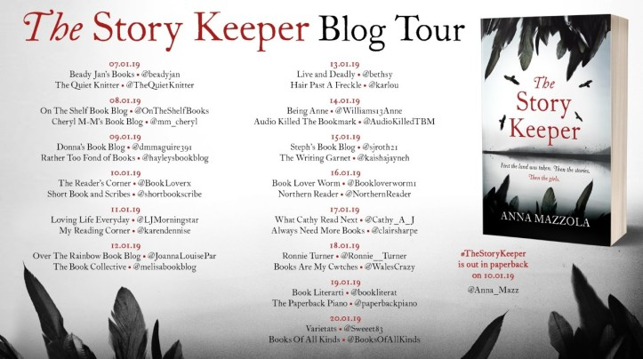 the story keeper blog tour poster