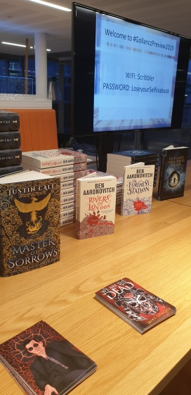 Some of the books at the Gollancz Preview evening